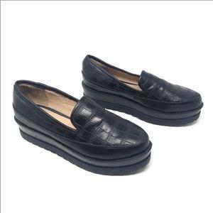 Forever 21 black platform loafer